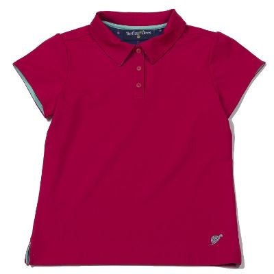 Cap Sleeve Polo Berry/I Sea the Tee